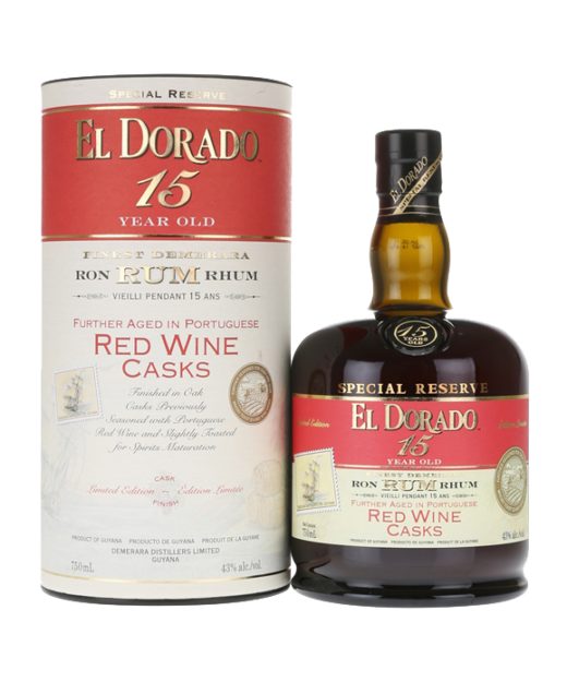 El Dorado 15 Year Rum Red Wine Cask Finish