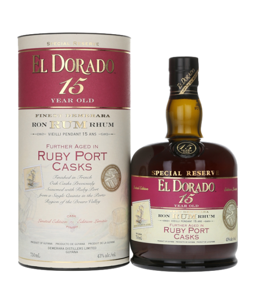El Dorado 15 Year Rum Ruby Port Cask Finish
