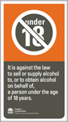 RSA Liquor Sign