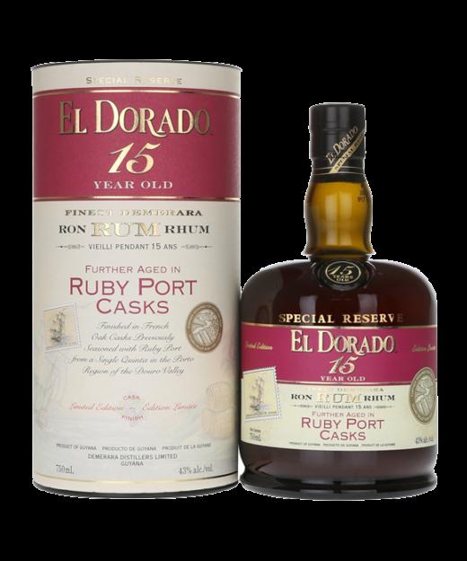 El Dorado 15 Year Rum Ruby Port Cask Finish