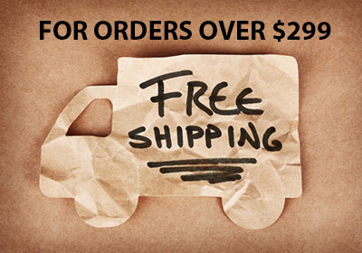 FREE SHIPPING for orders over $299