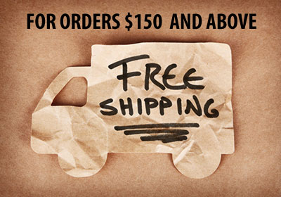Free Shipping for orders over $150
