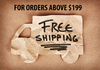 Free Shipping for orders above $199